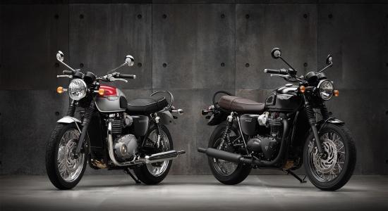 Triumph Bonneville T100 e T120 Black